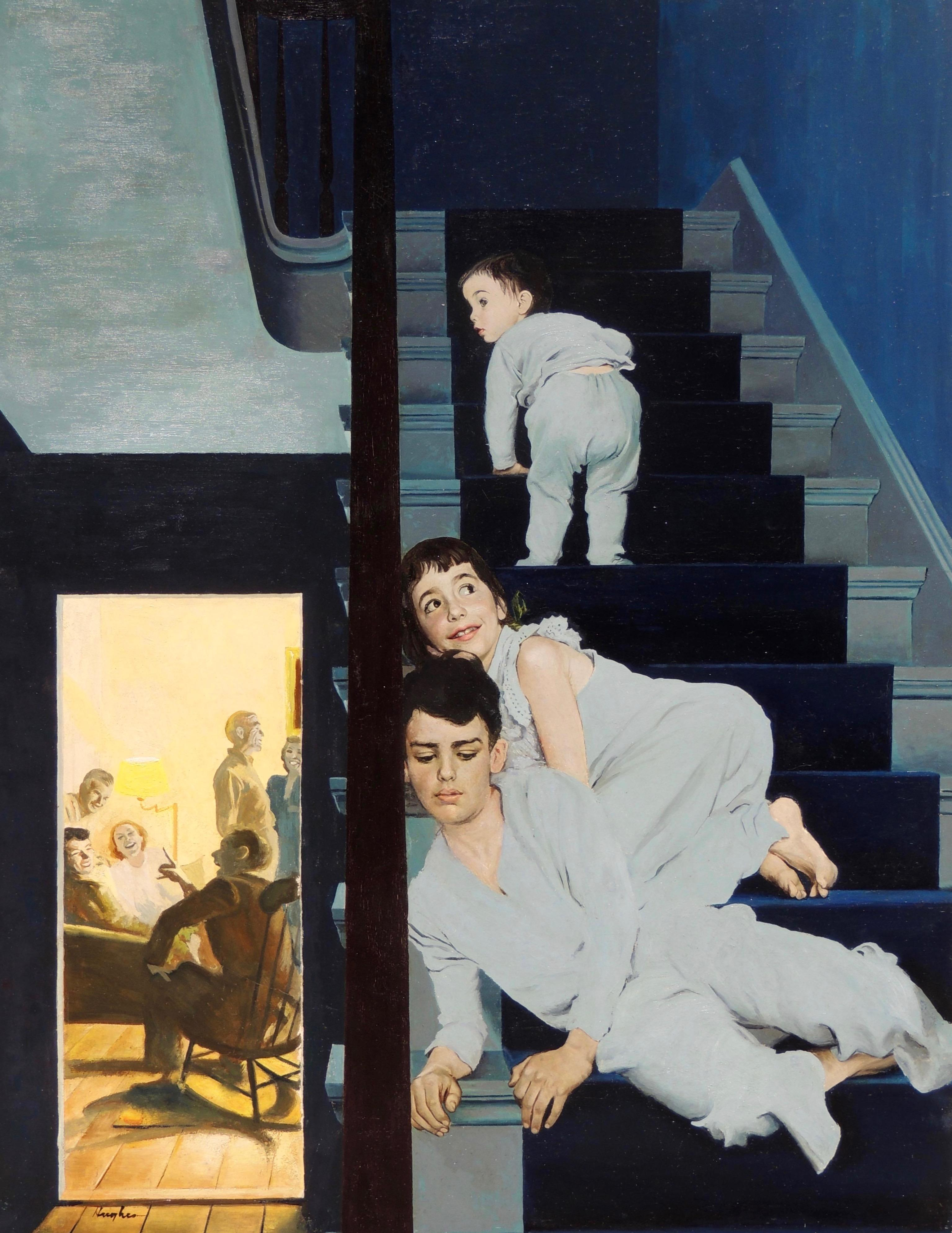 Eavesdropping on Grownups, Saturday Evening Post Cover