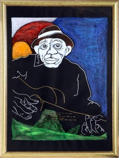 Mississippi John Hurt, Portrait Painting by George Hunt