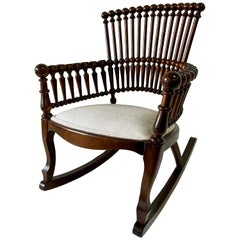 George Hunzinger Aesthetic Movement Spindle Rocking Chair