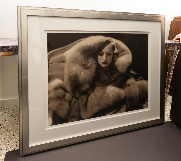 Art Deco George Hurrel Photograph of Joan Crawford For Sale