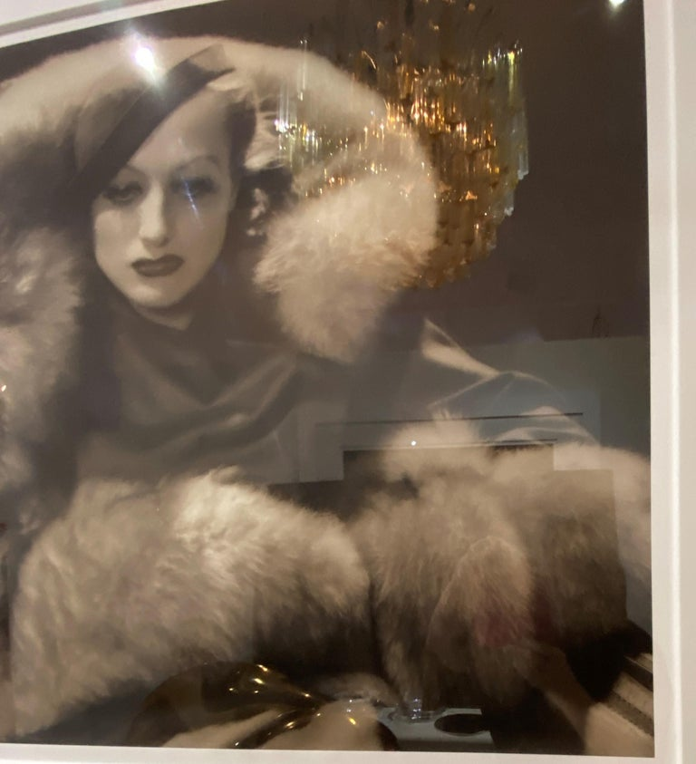 George Hurrel Photograph of Joan Crawford In Good Condition For Sale In West Palm Beach, FL