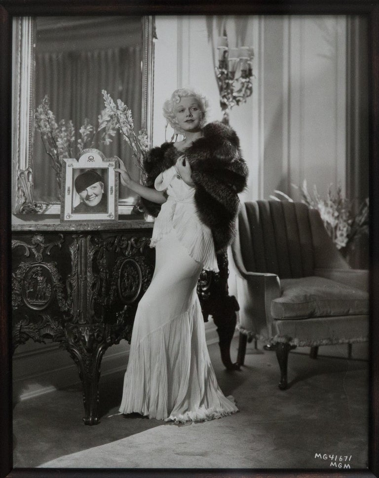 George Hurrell Original Signed Photograph of Hollywood Actress Jean Harlow In Good Condition For Sale In Hudson, NY