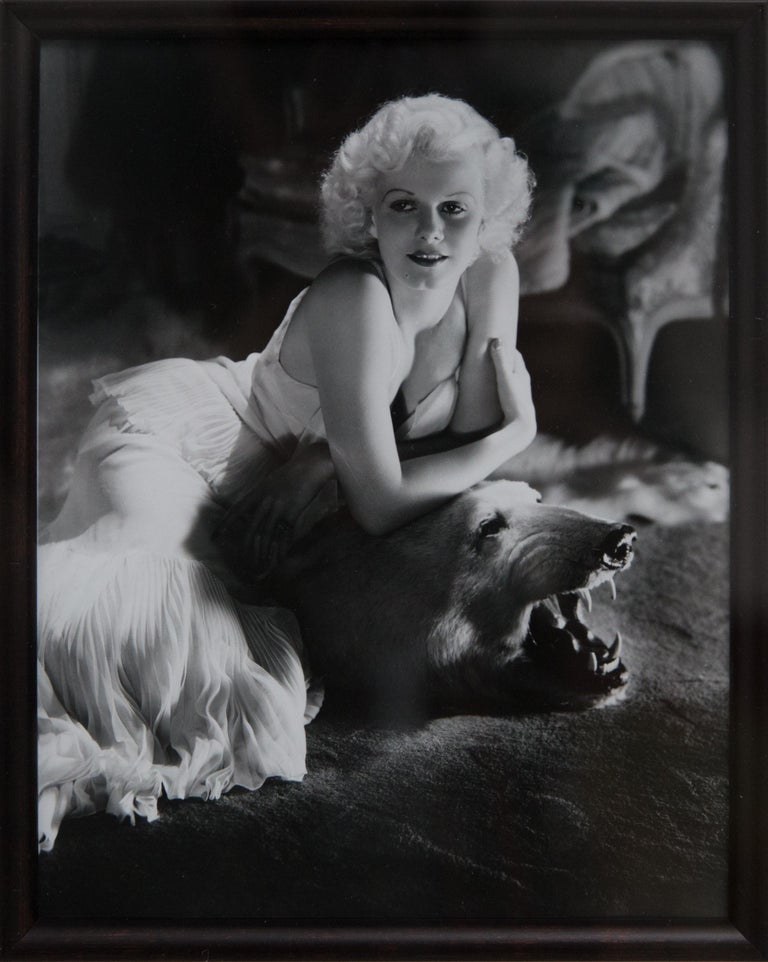 20th Century George Hurrell Original Signed Photograph of Hollywood Actress Jean Harlow For Sale