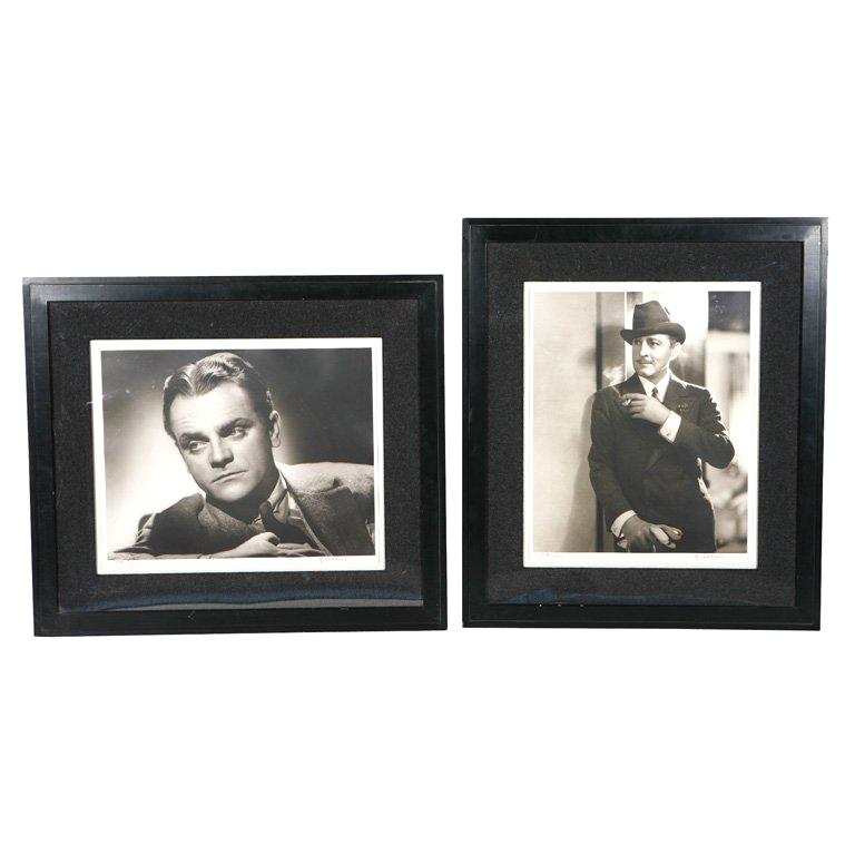 George Hurrell Photographs of James Cagney and John Barrymore For Sale