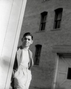 Clark Gable Awesome Portrait Outdoors Globe Photos Fine Art Print