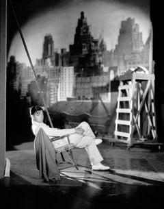Clark Gable Posed on Sound Stage II Globe Photos Fine Art Print