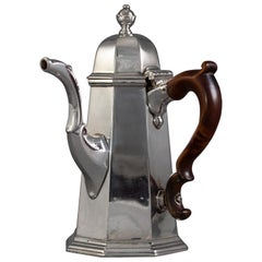 George I Britannia Silver Coffee Pot London 1716 by John Chartier