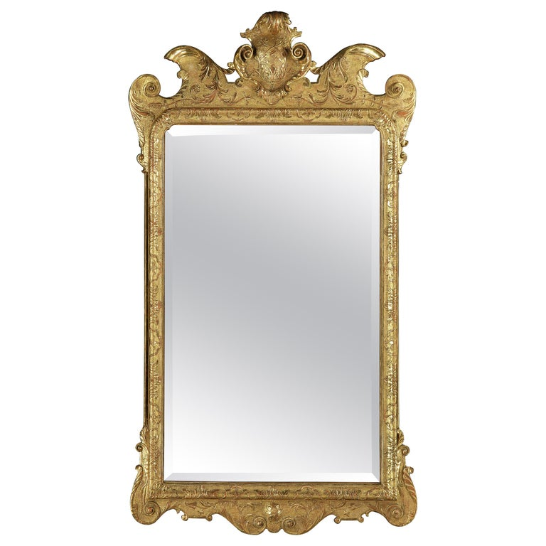 George I Giltwood Gesso Mirror For Sale