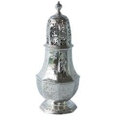 George I Silver Britannia Standard Caster by Charles Adam