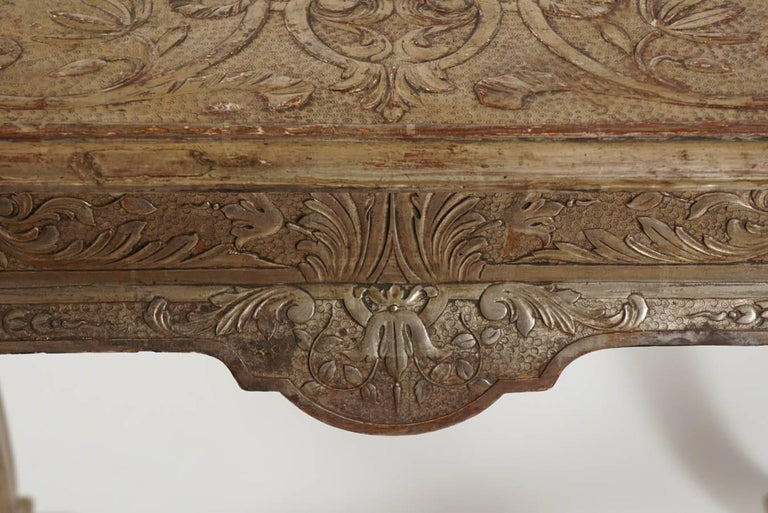 18th Century George I Silvered Gesso Table, James Moore, England, circa 1715