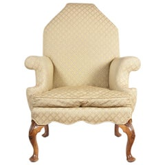 George I Style Carved Walnut Armchair