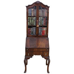 George I Style Mahogany Bureau Bookcase