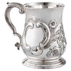 George II Antique Silver Tankard by Thomas Parr, London, 1748