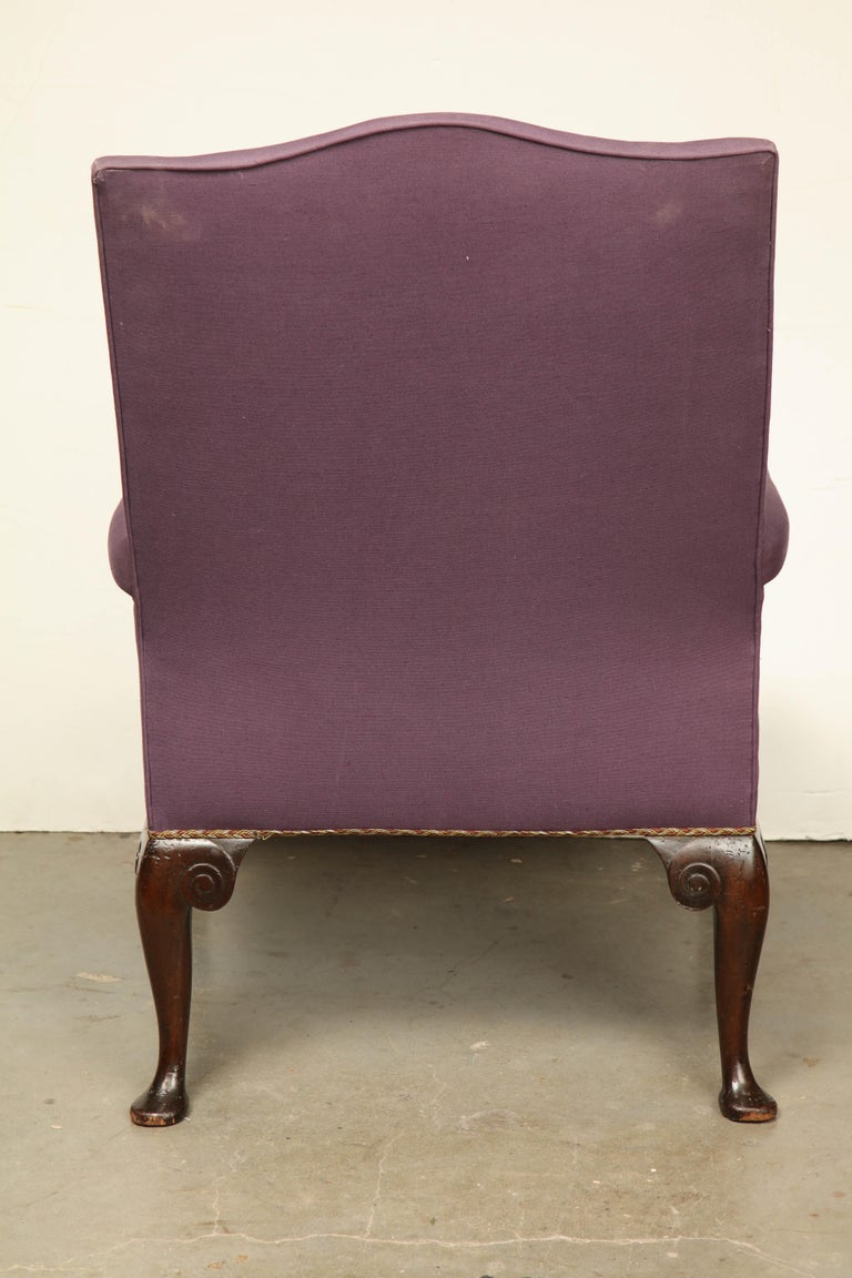 George II Ball and Claw Foot Gainsborough Armchair For Sale 5