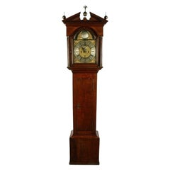 George II Brass Dial Oak Grandfather Clock, 18th Century