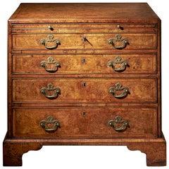 George II Burr/Burl Walnut Caddy Topped Chest, circa 1730-1740