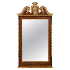 George II Burr Walnut and Parcel-Gilt Mirror in the Kentian Style
