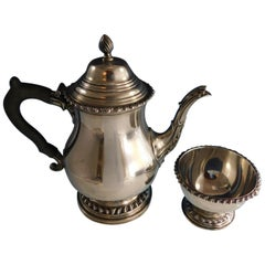 George II by Ellmore Sterling Silver Coffee Pot and Waste Set 2-Piece