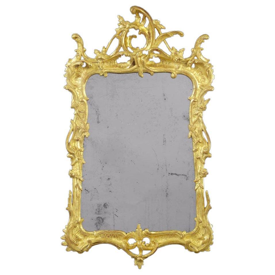 George II Carved Giltwood Wall Mirror