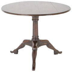 George II Carved Oak Tilt-Top Isle of Man Tripod Table