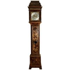 George II Chinoiserie Longcase Clock by Kipling, London, 1730