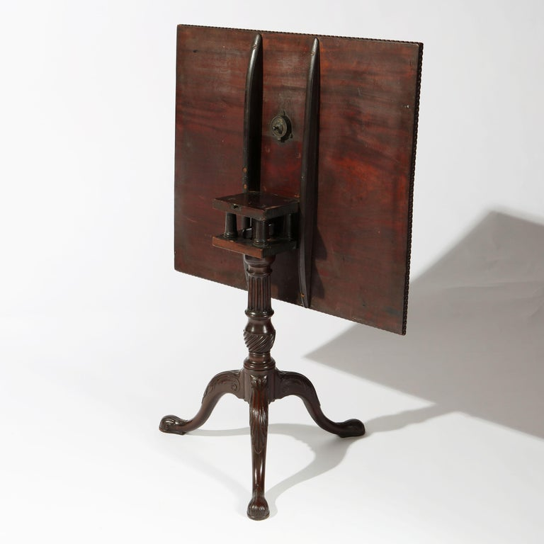 George II Chippendale Mahogany Tripod Table For Sale 5