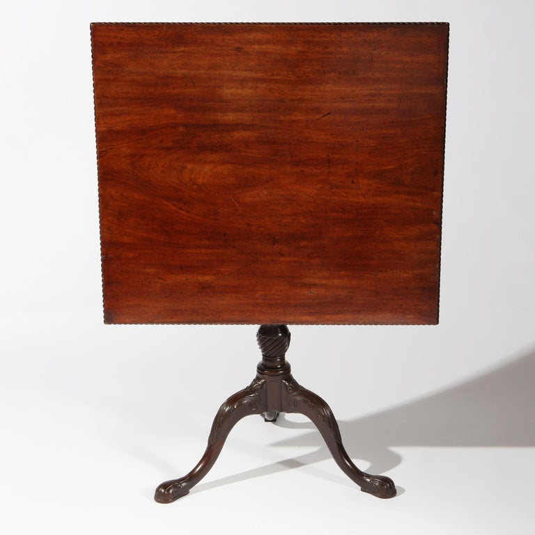 George II Chippendale Mahogany Tripod Table For Sale 1