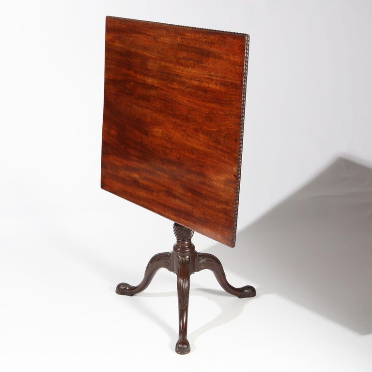 George II Chippendale Mahogany Tripod Table For Sale 3