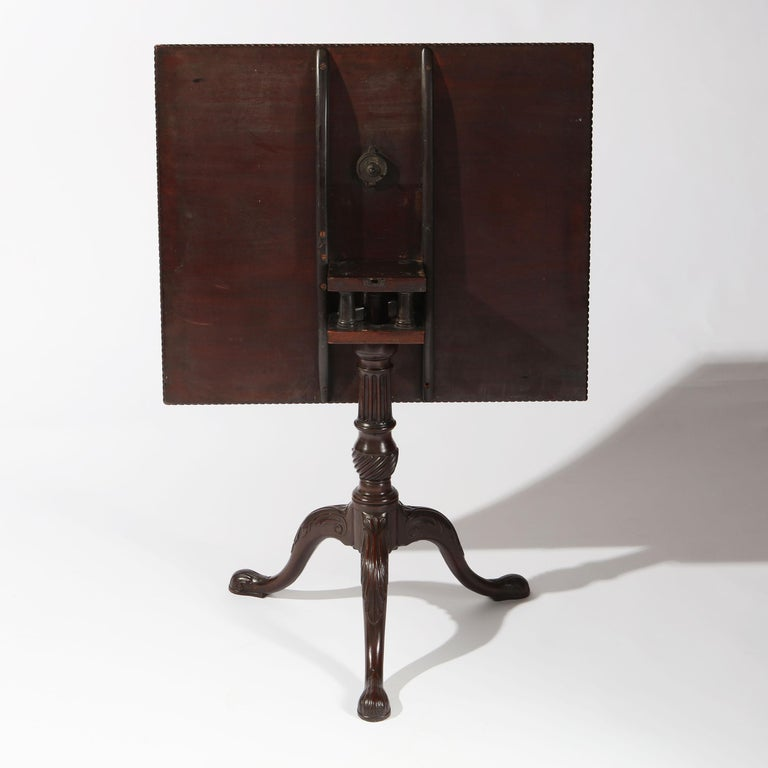 George II Chippendale Mahogany Tripod Table For Sale 4