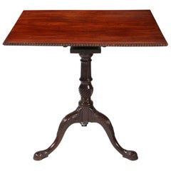 George II Chippendale Mahogany Tripod Table