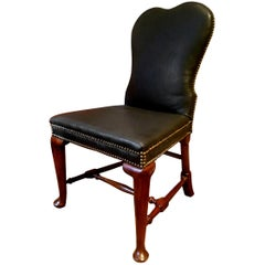 George II circa 1740 Side Chair in Glove Leather