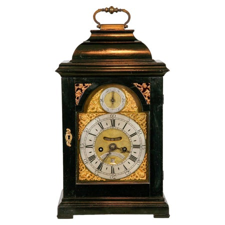 George II Ebony Bracket Clock by John Brown, Edinburgh