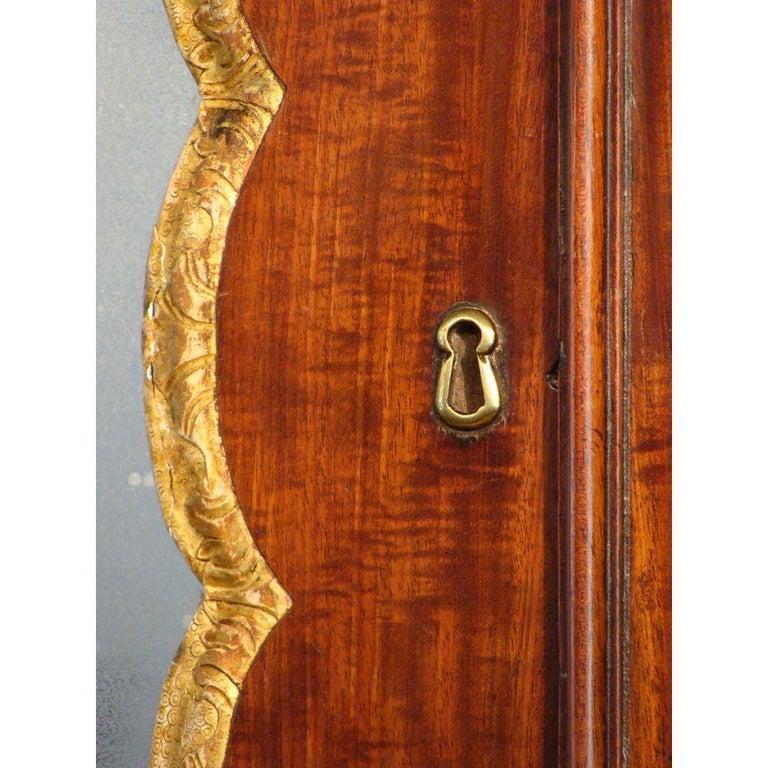 George II English Mahogany Bureau Cabinet Bookcase In Good Condition For Sale In Lymington, GB