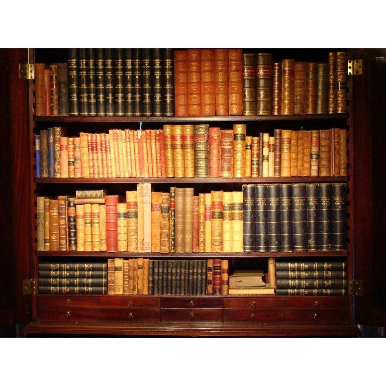 George II English Mahogany Bureau Cabinet Bookcase For Sale 1