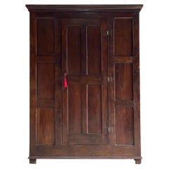 George II English Oak Housekeepers Cupboard Pantry 18th Century Circa 1750