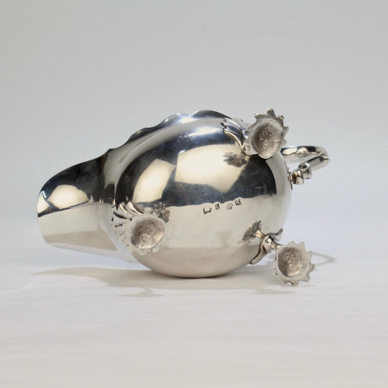 George II English Sterling Silver Gravy or Sauce Boat by George Hunter, 1751 For Sale 6