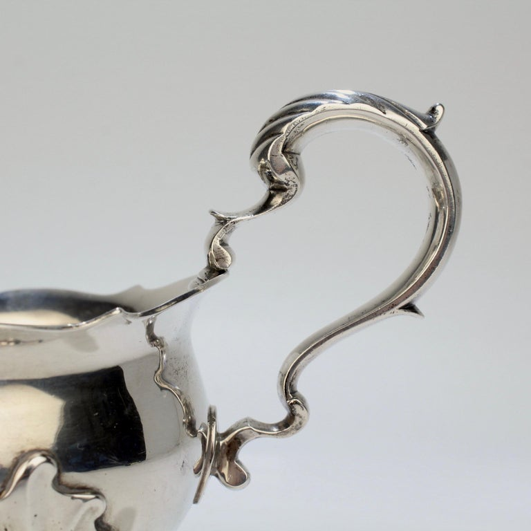 George II English Sterling Silver Gravy or Sauce Boat by George Hunter, 1751 For Sale 8