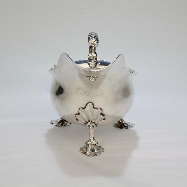 George II English Sterling Silver Gravy or Sauce Boat by George Hunter, 1751 For Sale 4