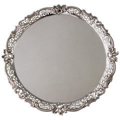 George II Huguenot Silver Salver by Samuel Courtauld, London 1759