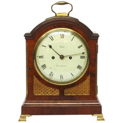 George II Mahogany Arched-Top Bracket Clock by Sly, Weymouth, England