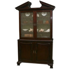 George II Mahogany Bookcase or Cabinet