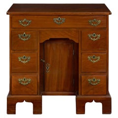 George II Mahogany Kneehole Dressing Table Desk, England, circa 1750