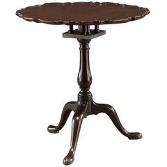 George II Mahogany Piecrust Tilt-Top Table