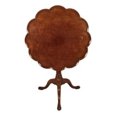 George II Mahogany Scalloped Tripod Table