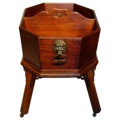George II Mahogany Wine Waiter or Bottle Carrier
