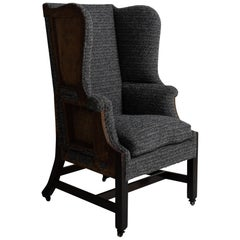 George II Mahogany Wing Chair
