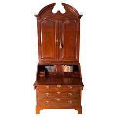 George II Period Mahogany Bureau Cabinet
