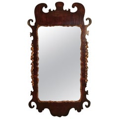 George II Period Mahogany Carved Wall Pier Mirror
