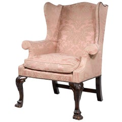 George II Period, Mahogany Framed Wing Chair of Small Proportions