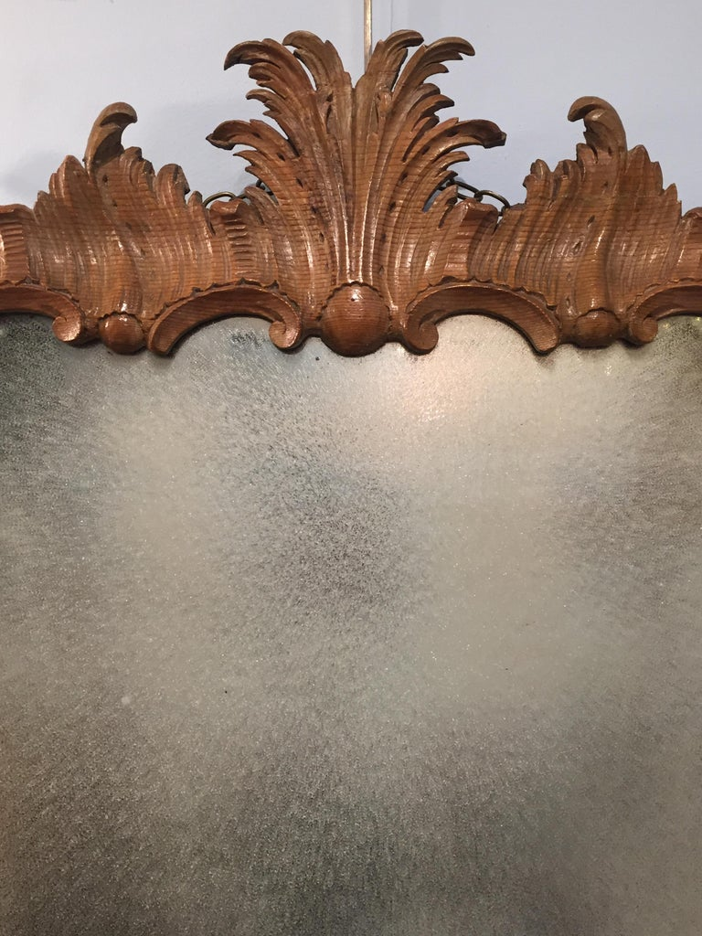 George II Period Rococo Carved Mirror Frame of Astonishing Quality and Detail For Sale 5